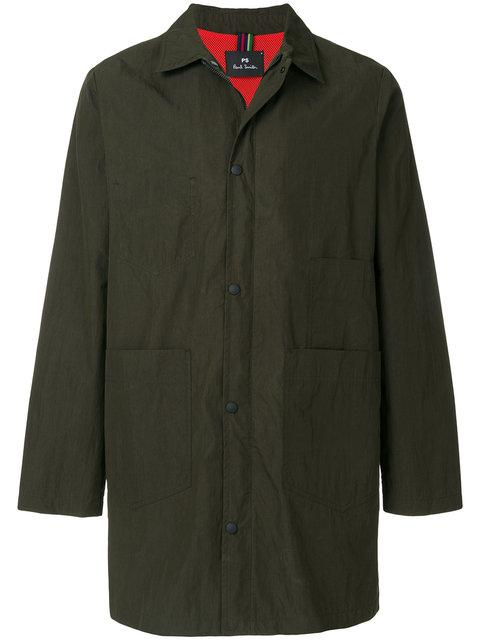 Ps By Paul Smith Shop Coat In Green