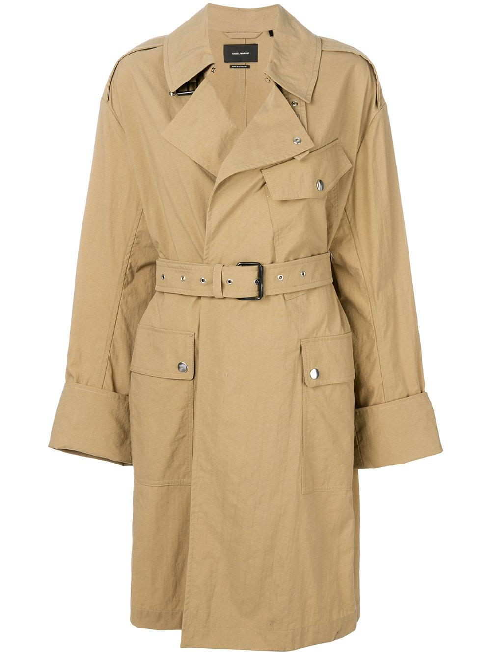 Isabel Marant Belted Trench Coat - Nude & Neutrals
