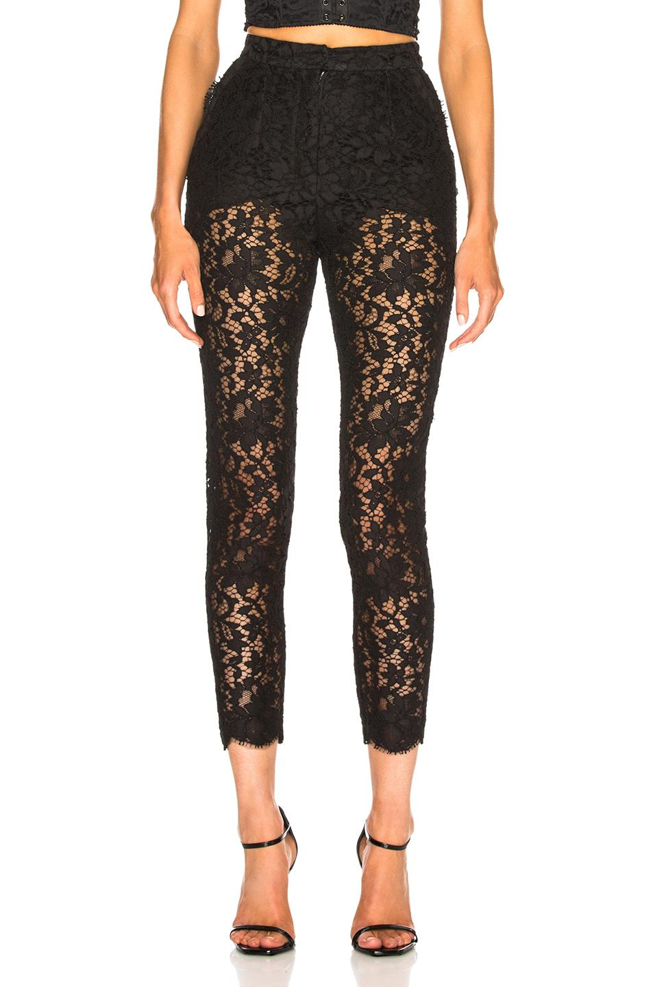 Dolce & Gabbana Lace Trousers In Black