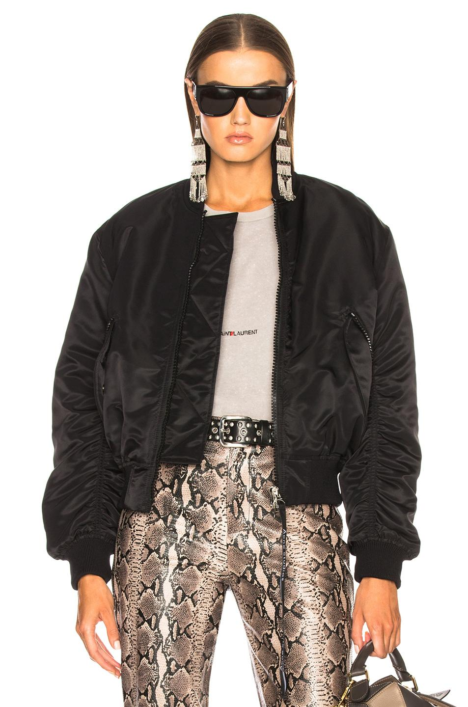 Acne Studios Clea Bomber Jacket In Red