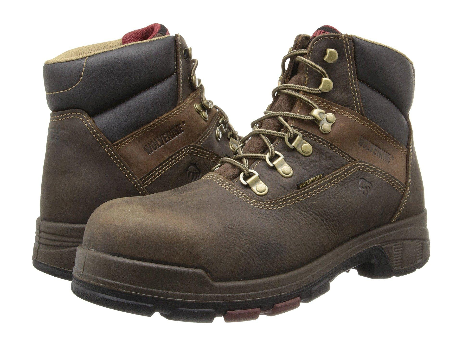 """Wolverine Cabor Epx™ Pc Dry Waterproof 6"""" Boot - Composite Toe In Dark Brown"""