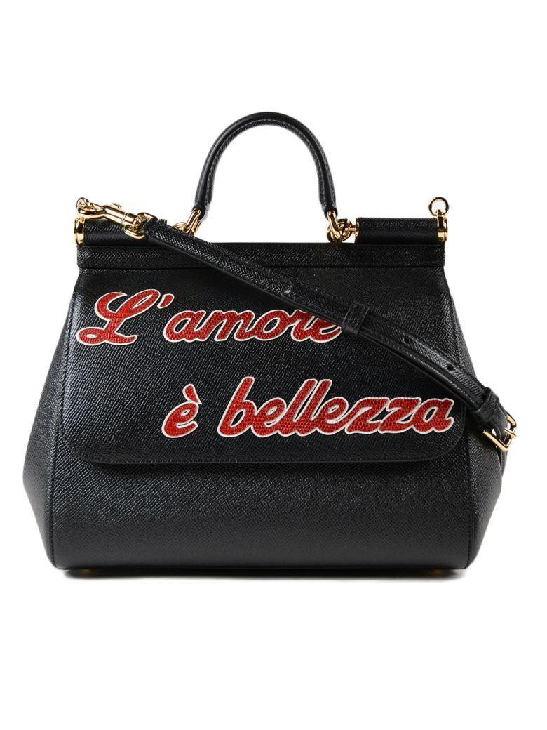 Dolce & Gabbana St. Dauphine +patch Handbag In Nero