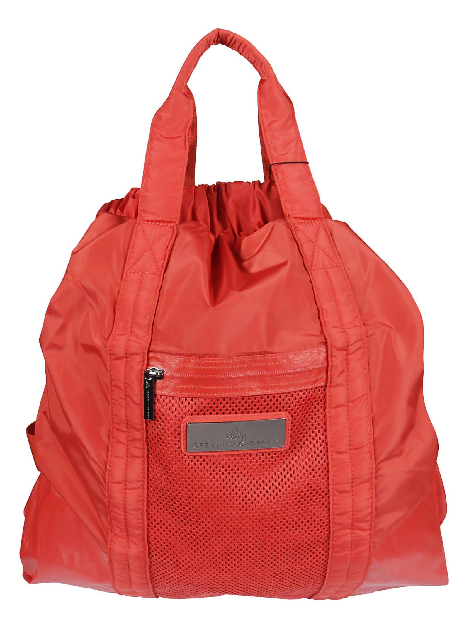 Stella Mccartney Mesh Panel Gym Backpack In Red