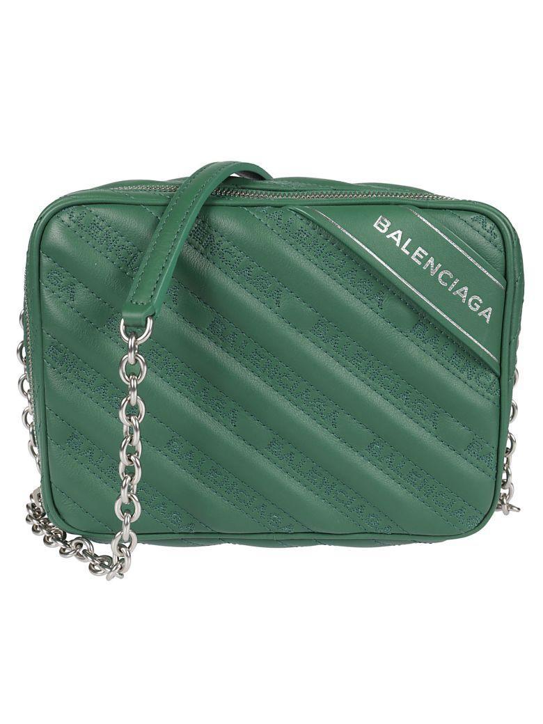 Balenciaga Blanket Reporter Xs Shoulder Bag In Vert Perroquet