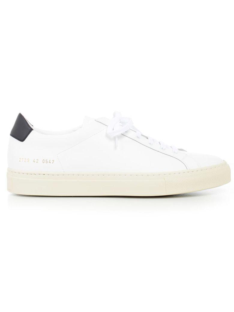 Common Projects Achilles Retro Leather Sneakers In White
