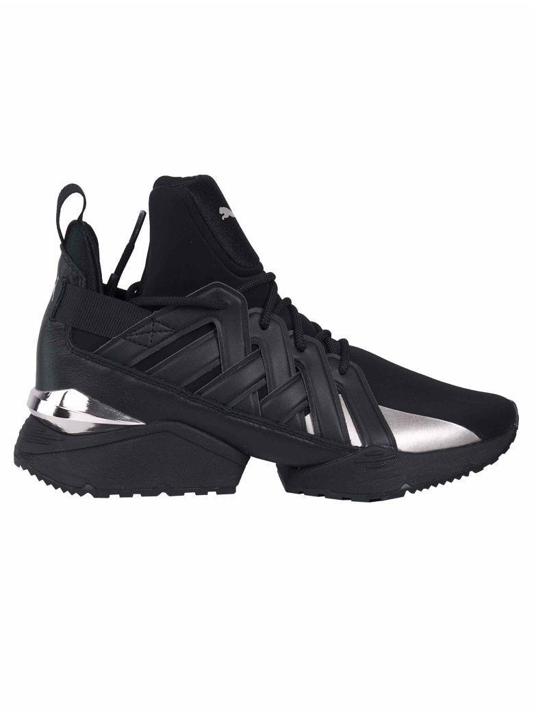 Puma Muse Echo Hi-top Sneakers In Black