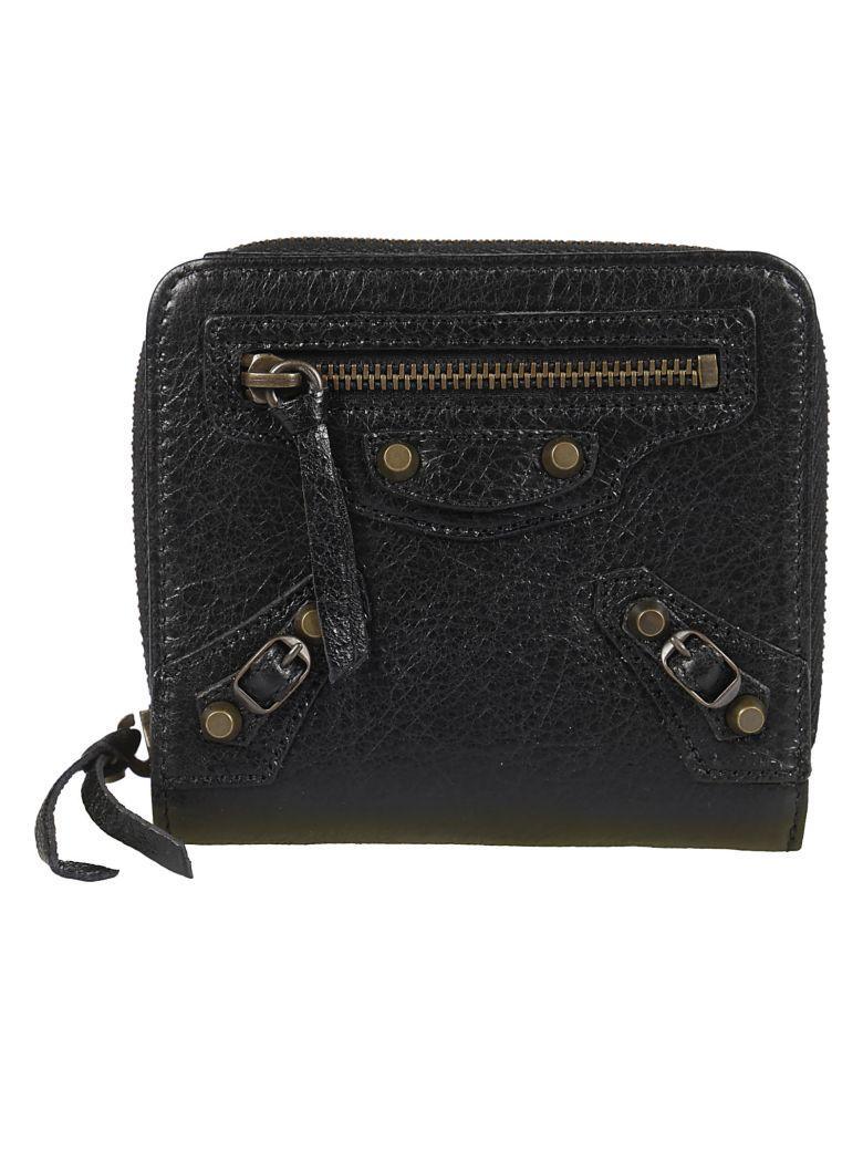 Balenciaga Classic French Wallet In Noir