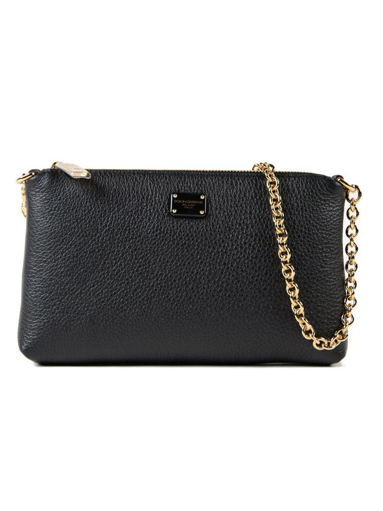 Dolce & Gabbana Chain Shoulder Bag In Nero