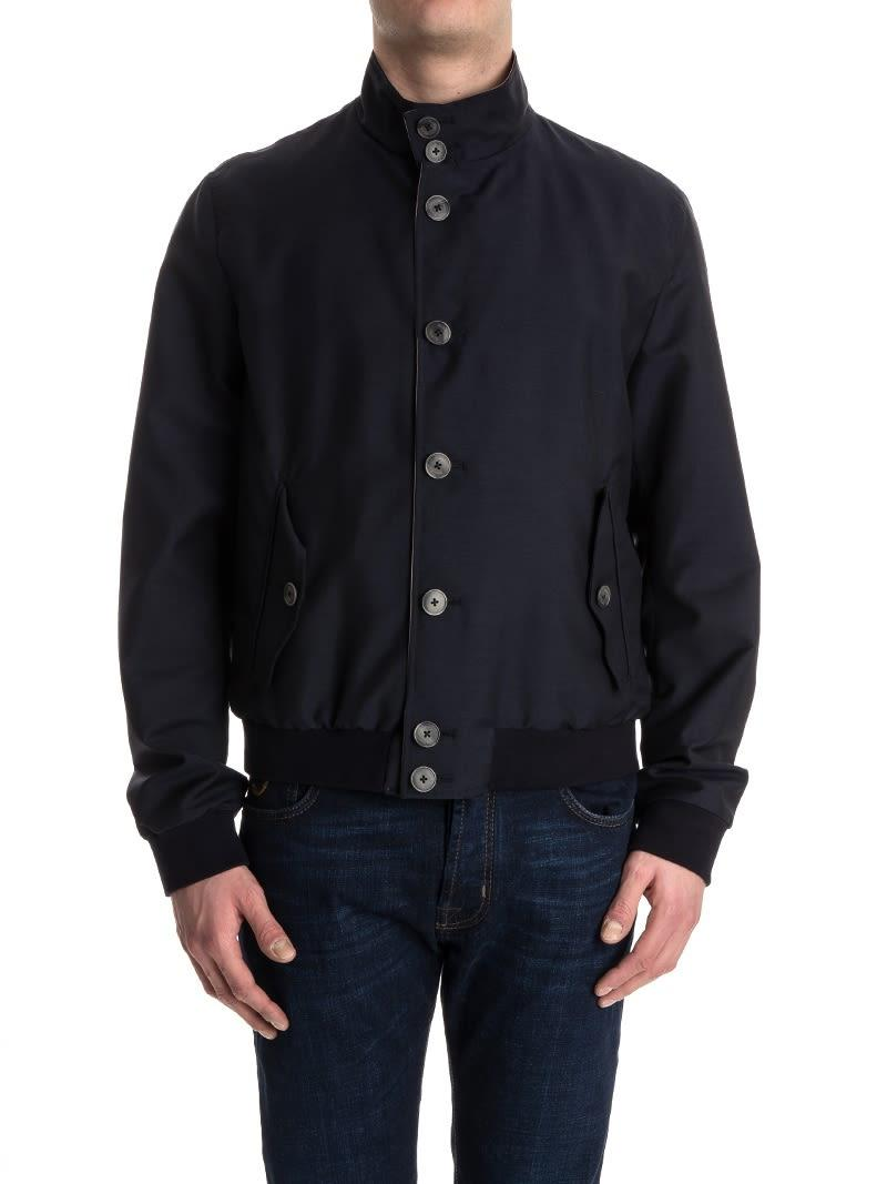 Herno Reversible Jacket In Blue
