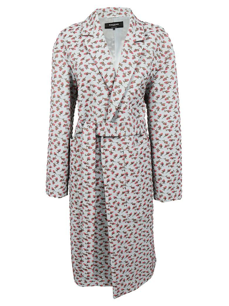 Rochas Floral Print Coat In Fantasy