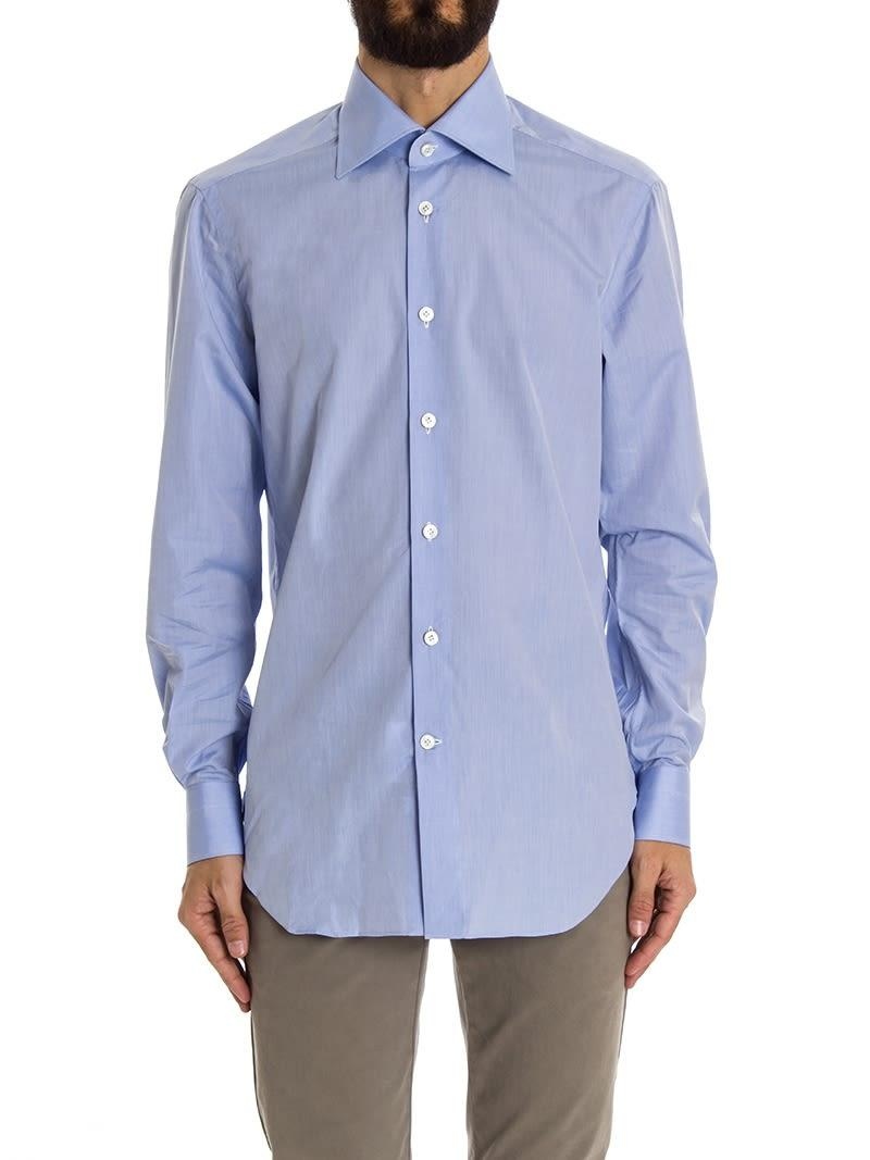 Kiton Shirt Cotton In Heavenly