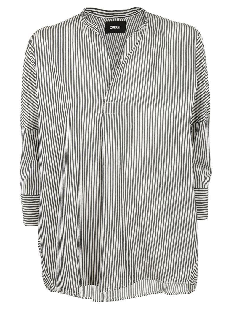 Zucca Striped Blouse In Black-white