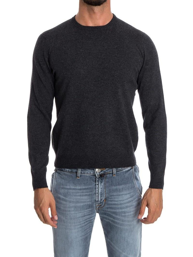 Drumohr Round Neck Wool And Cashmere  In Gray