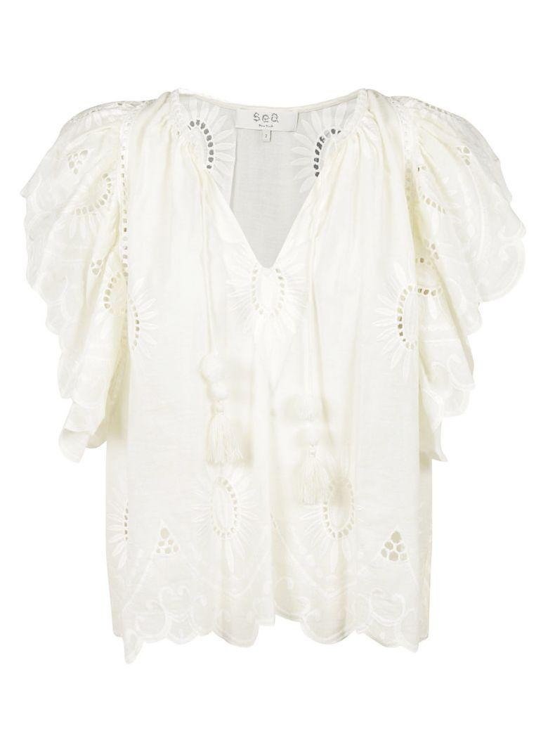 Sea Ny Embroidered Top In White