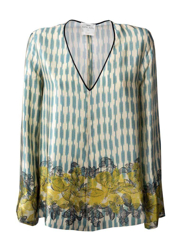 Forte Forte Embroidered Flared Blouse In Multicolour