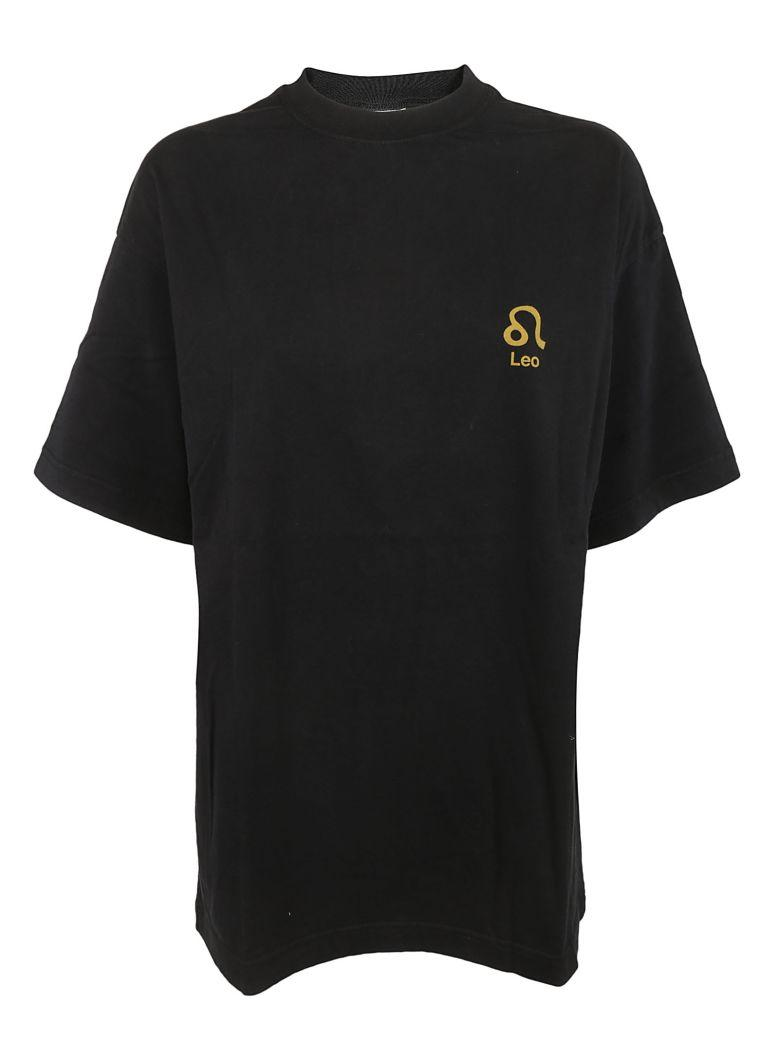 Vetements Horoscope T-shirt In Black+leo