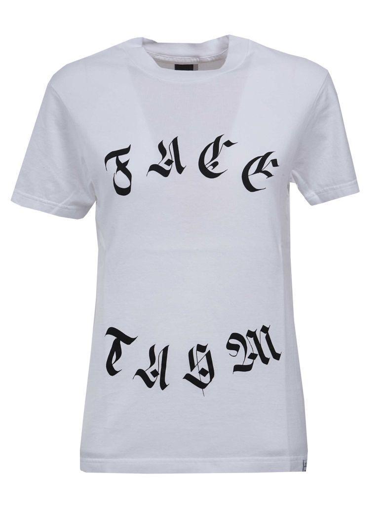 Facetasm Logo Print T-shirt In Wh Bianco
