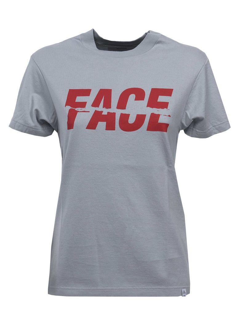 Facetasm Logo Print T-shirt In Grey Grigio
