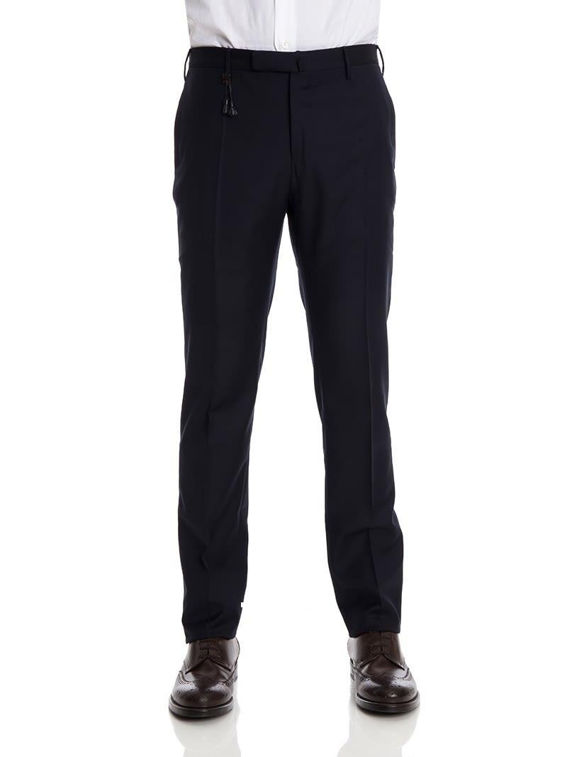 Incotex Trousers Wool In Blue