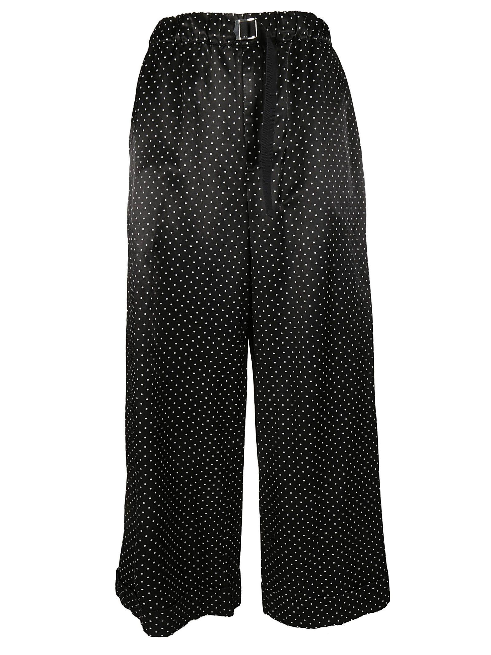 Zucca Polka Dots Trousers In Black