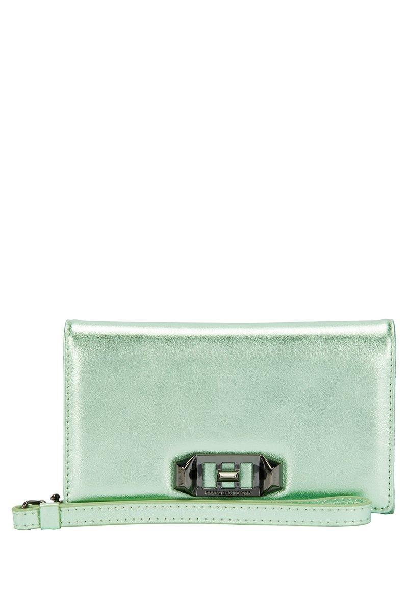 Rebecca Minkoff Love Lock Wristlet For Iphone Xs & Iphone X In Mint
