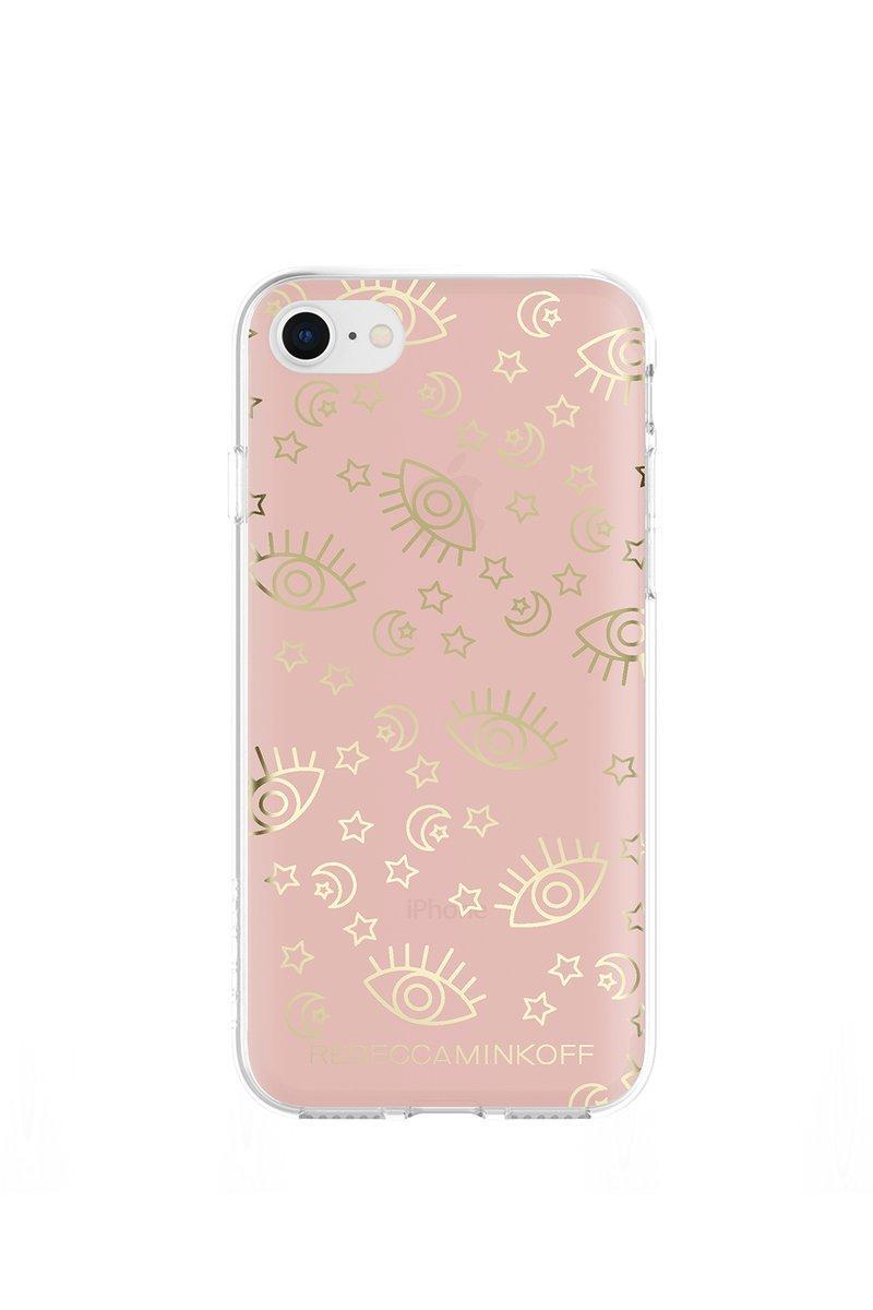 Rebecca Minkoff Metallic Galaxy Case For Iphone 8 & Iphone 7 In Rose Gold