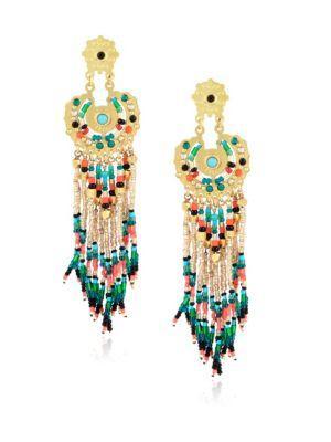 Gas Bijoux Apache Chandelier Earrings In Multi