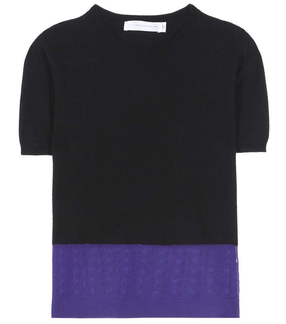 Victoria Beckham Cashmere-Blend Blouse In Black