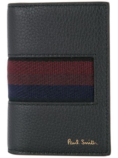 Paul Smith City Webbing Credit Card Wallet In Black