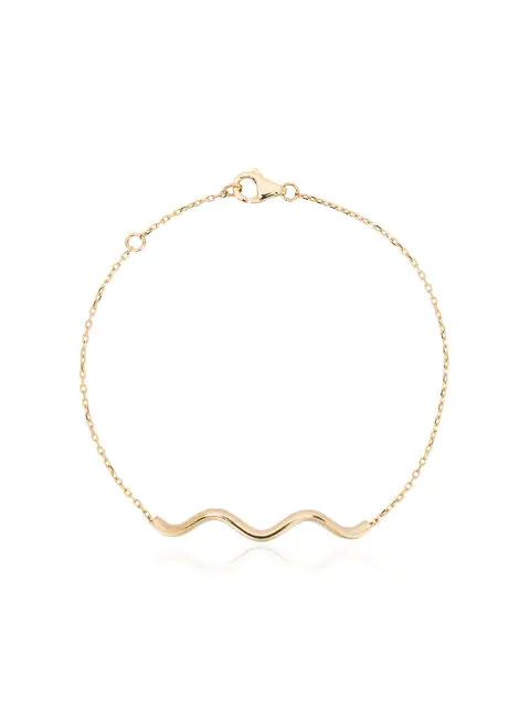 Sabine Getty 18k Yellow Gold Chained Wave Bracelet - Metallic