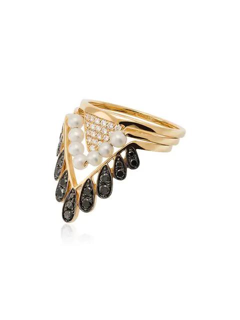 Yvonne LÉon 18kt Gold Viviane Diamond Ring - Metallic