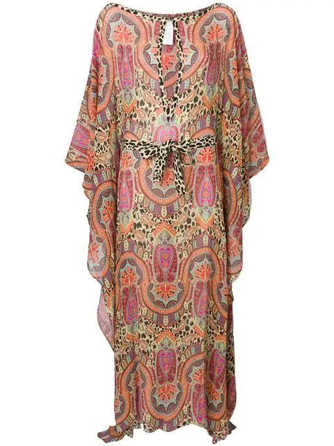 Etro Mixed Paisley Print Maxi Dress