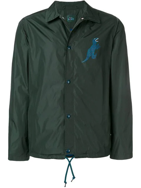 Ps By Paul Smith Dino Print Coach Jacket - Green