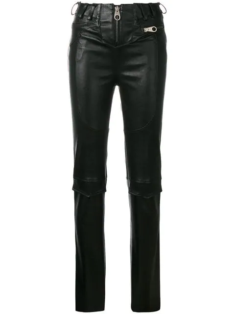 Almaz Slim Zipped Trousers - Black
