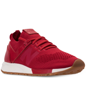 New Balance Men's 247 Deconstructed Casual Sneakers From Finish Line In Red/white