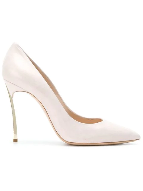 Casadei Pointed Toe Pumps In Pink