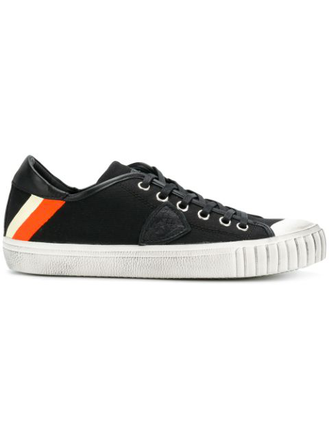 Philippe Model Gare Banded Low-top Sneakers - Black