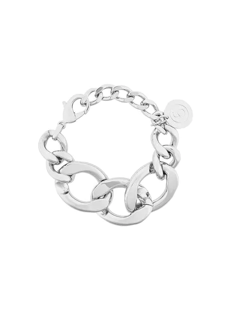 Mm6 Maison Margiela Oversized Cable Chain Bracelet - Metallic