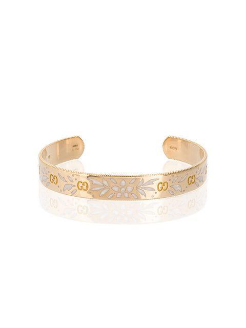Gucci Large Icon Bracelet In Yellow Gold - Metallic