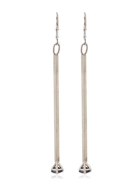 Jelena Behrend Black Crystal Silver Earrings - Metallic
