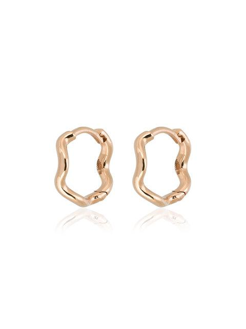 Sabine Getty 18k Rose Gold Wave Huggie Hoops - Metallic