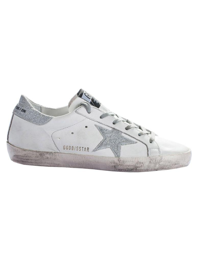 Golden Goose Superstar Sneakers In White-silver