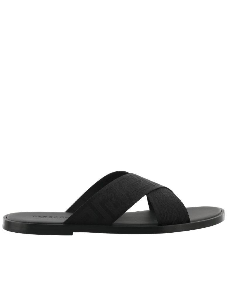 Versace Thong Sandal In Black