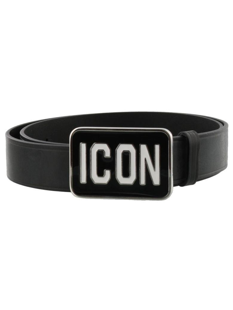 Dsquared2 Icon Belt In Black