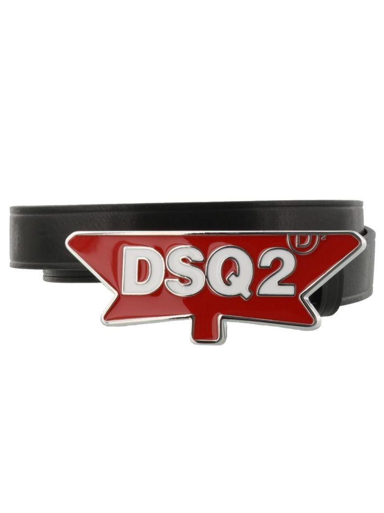 Dsquared2 Belt In Black Red