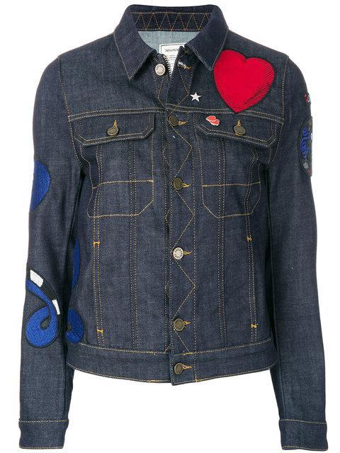 Zadig & Voltaire Heart Patch Denim Jackets