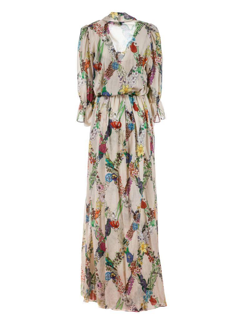 Ballantyne Floral Print Dress In Beige