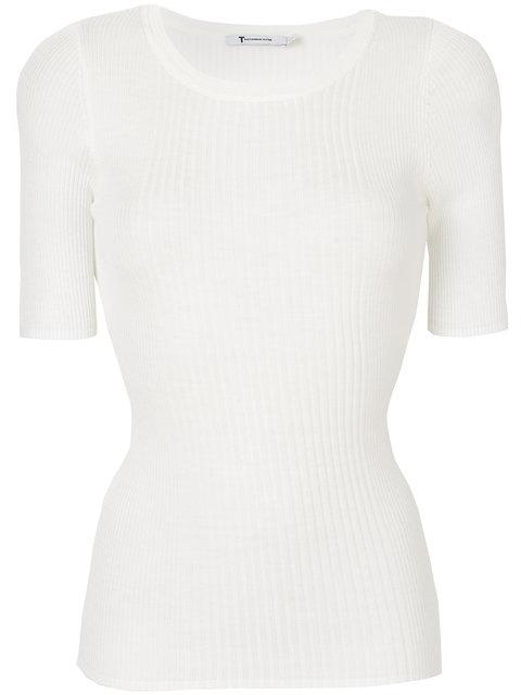 T By Alexander Wang Shortsleeved Knitted Top