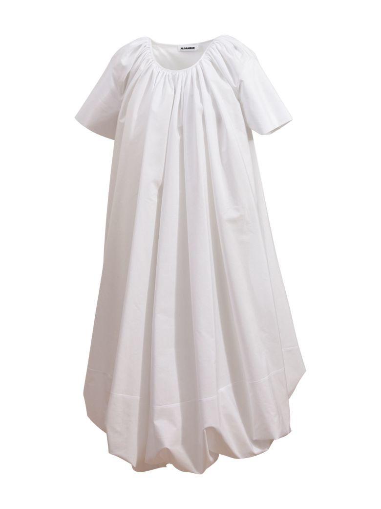 Jil Sander White Cotton Dress