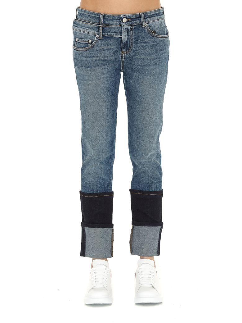 Alexander Mcqueen Jeans In Faded Blue